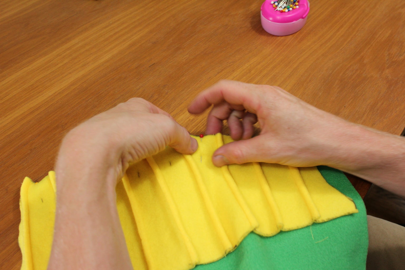 Sewing the Chest Together