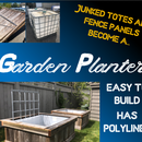 Garden Planters - From an IBC Tote and Old Fence