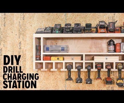 DIY Drill Charging Station
