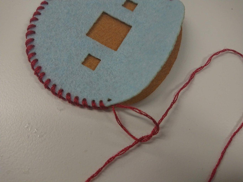 Creating the Felt Badge - Using Thread