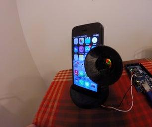 Ugly Spooky IPhone Gramophone Speaker - Arduino & 3D Printing