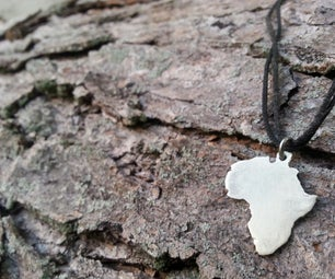 How to Make a Silver Africa Pendant