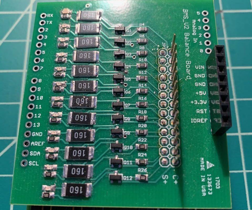 Arduino LTC6804 BMS Balance Board