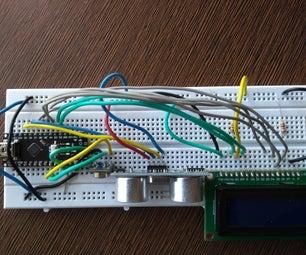 Arduino Interfacing With Ultrasonic Sensor and Contactless Temperature Sensor