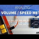 Analog Speed or Volume Meter With Arduino