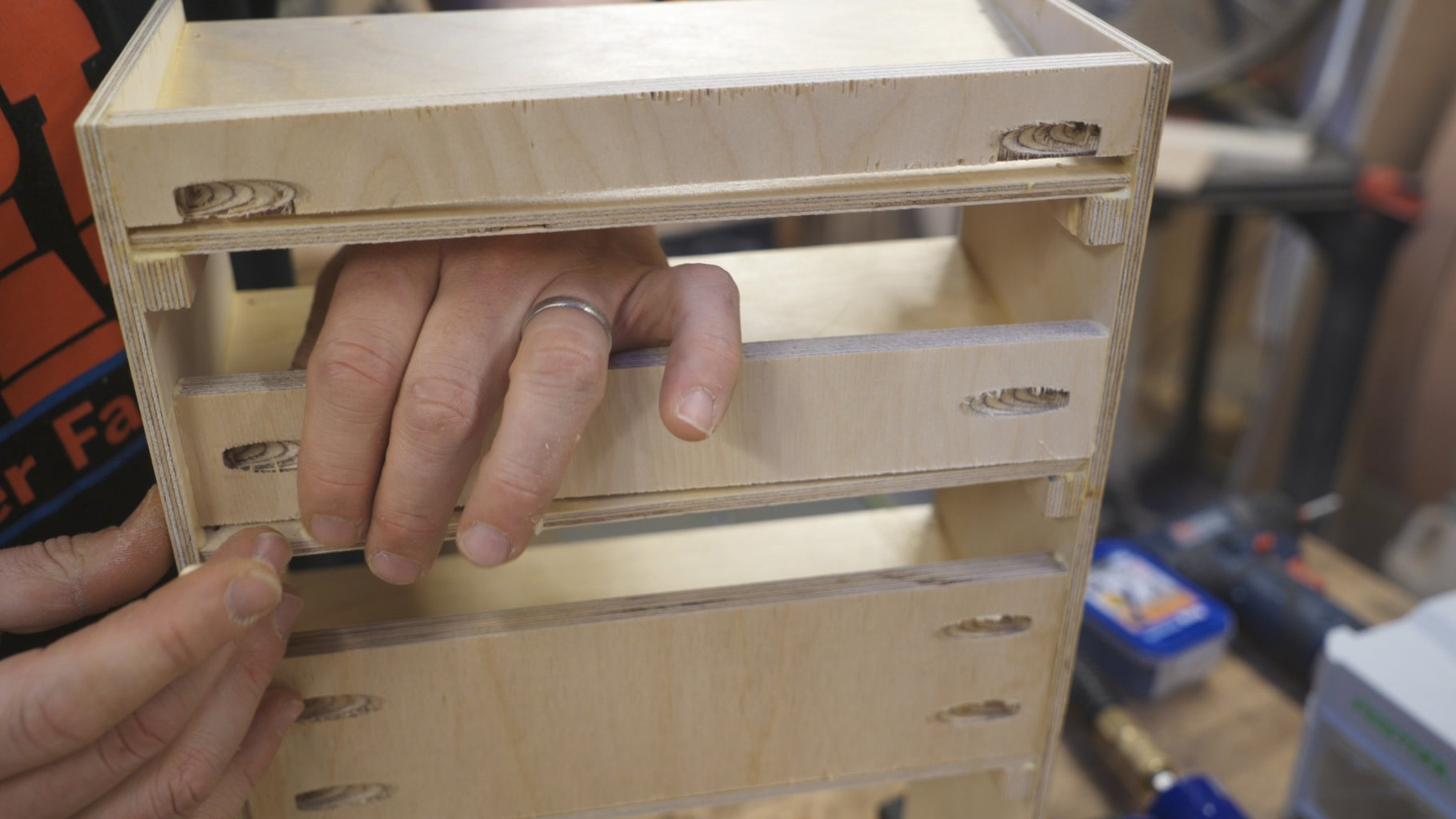 Assembly - Glue Shelves and Backs