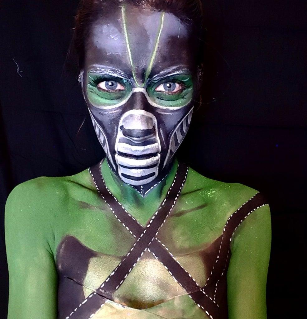 Mortal Kombat Reptile Face Paint
