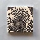 Chrysanthemum Pattern Screen Printed Ceramic Tile