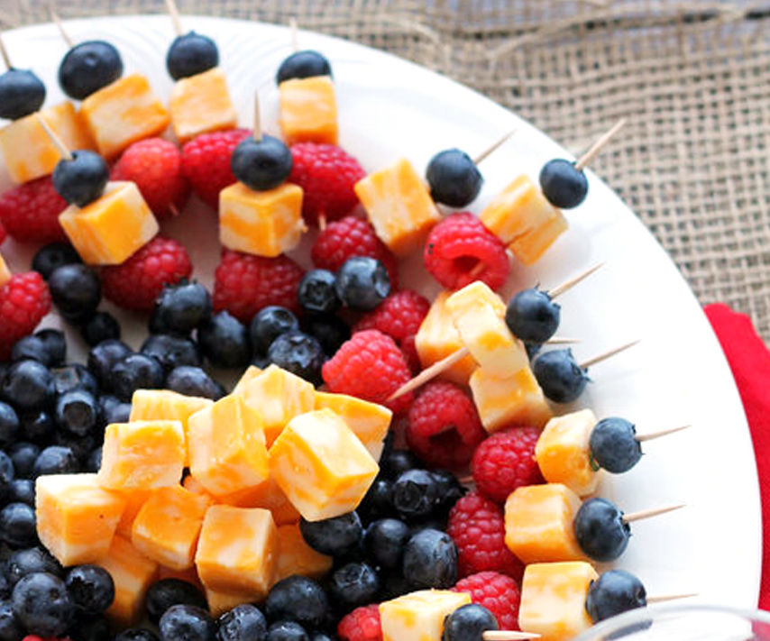 Simple Fruit and Cheese Kabobs