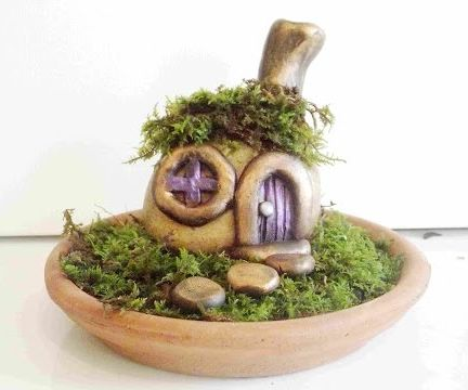 How to Sculpt a Stone Fairy House and Garden in Polymer Clay