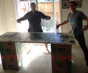 Cheap and Simple Beer Pong/coffee Table
