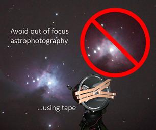 Focus a Telescope Using Tape