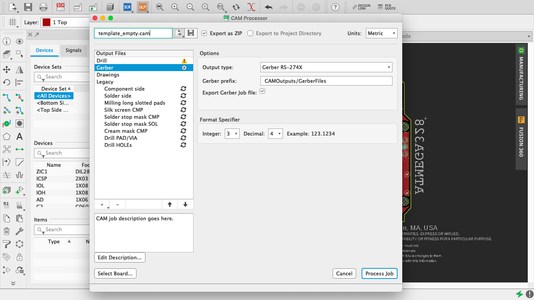 Exporting Gerbers and BOM for Fabrication