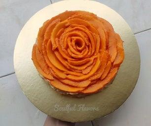 无蛋芒果玫瑰蛋糕