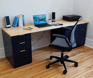 Solid Wood Cabinet Desk