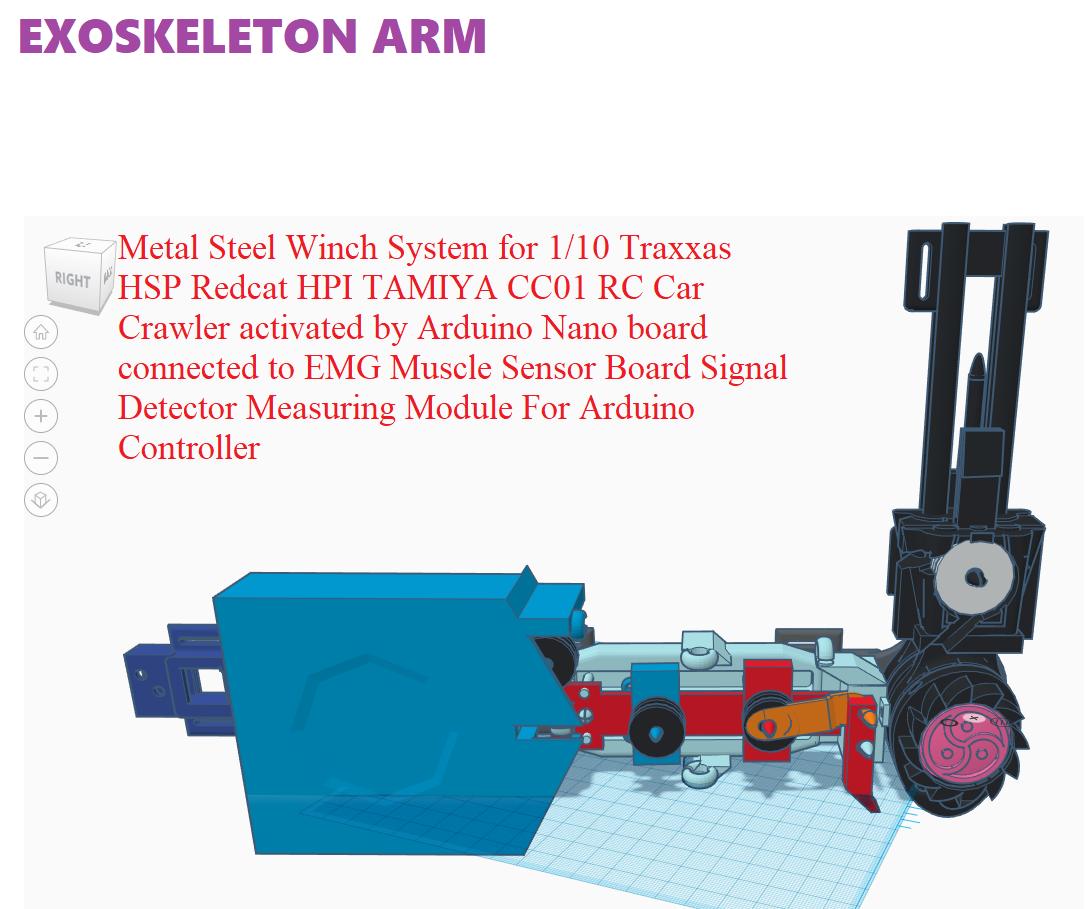 Exoskeleton Arm for Disabled WIP