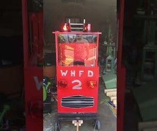 Halloween Firetruck With Working Firehose!