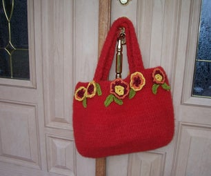 Juicy Cherry Red Felted Bag