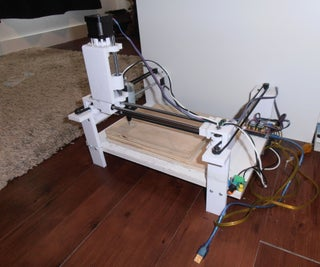 A (partly) 3-D Printed CNC (HBOT)