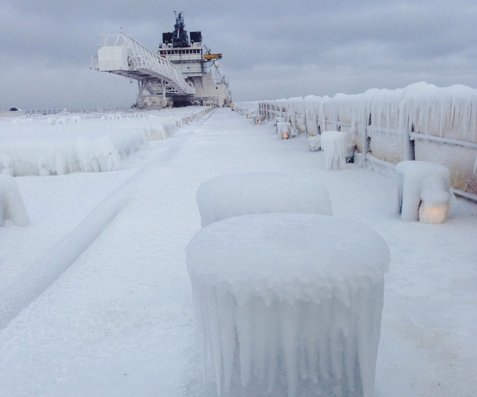 How To Get A 630' Freighter Out Of the Thickest Ice In 40 Years.