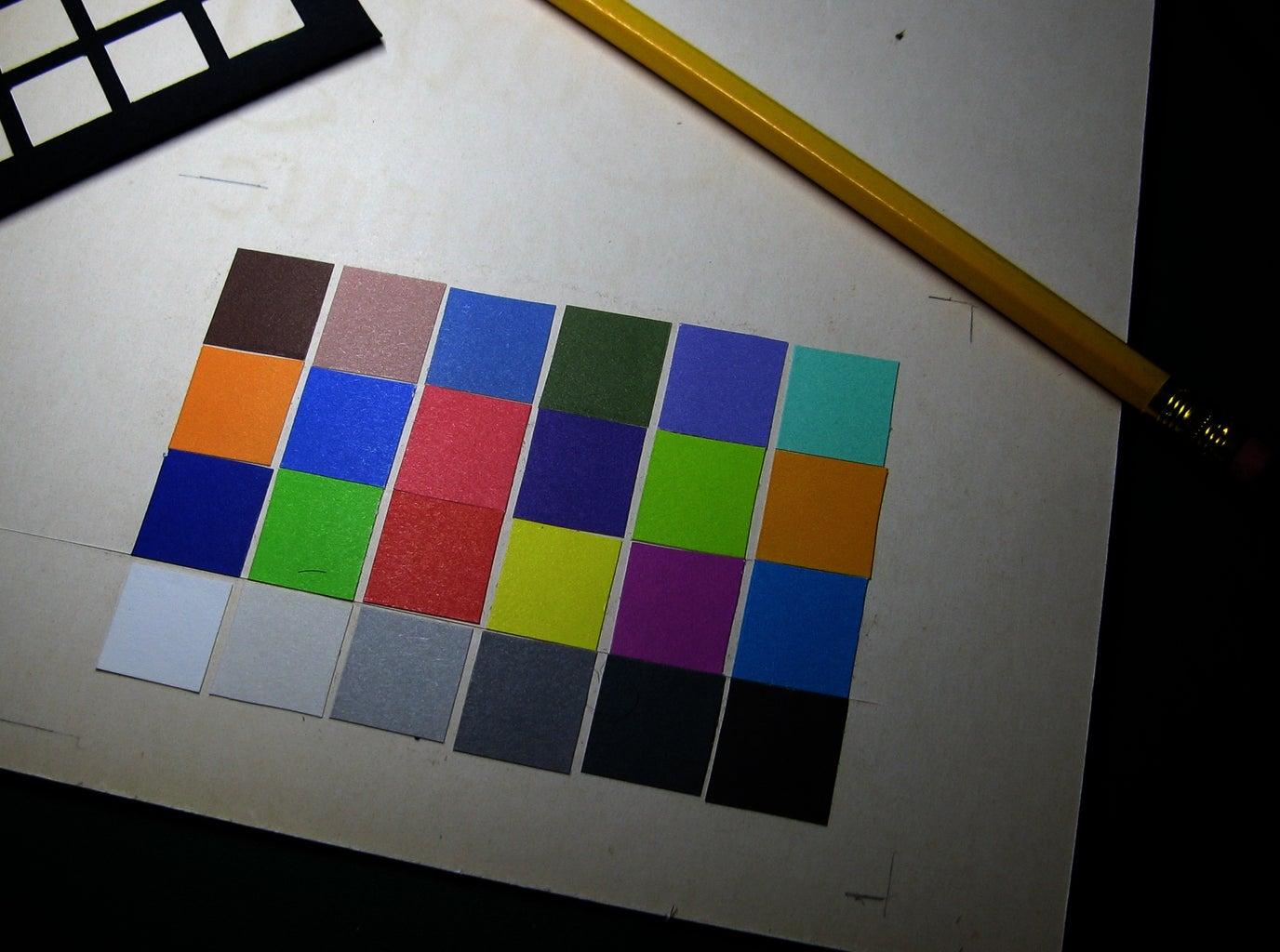Stick Down the Color Squares