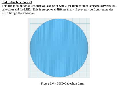 3D Printing - Cabochon Lens
