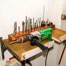 Up-cycled Power Drill and Bits Holder
