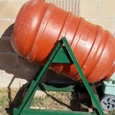 DIY Composter from Up-Cycled Olive Barrel