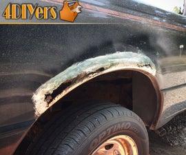 How to Fix Rust Holes on a Budget Using Fiberglass - NO WELDING