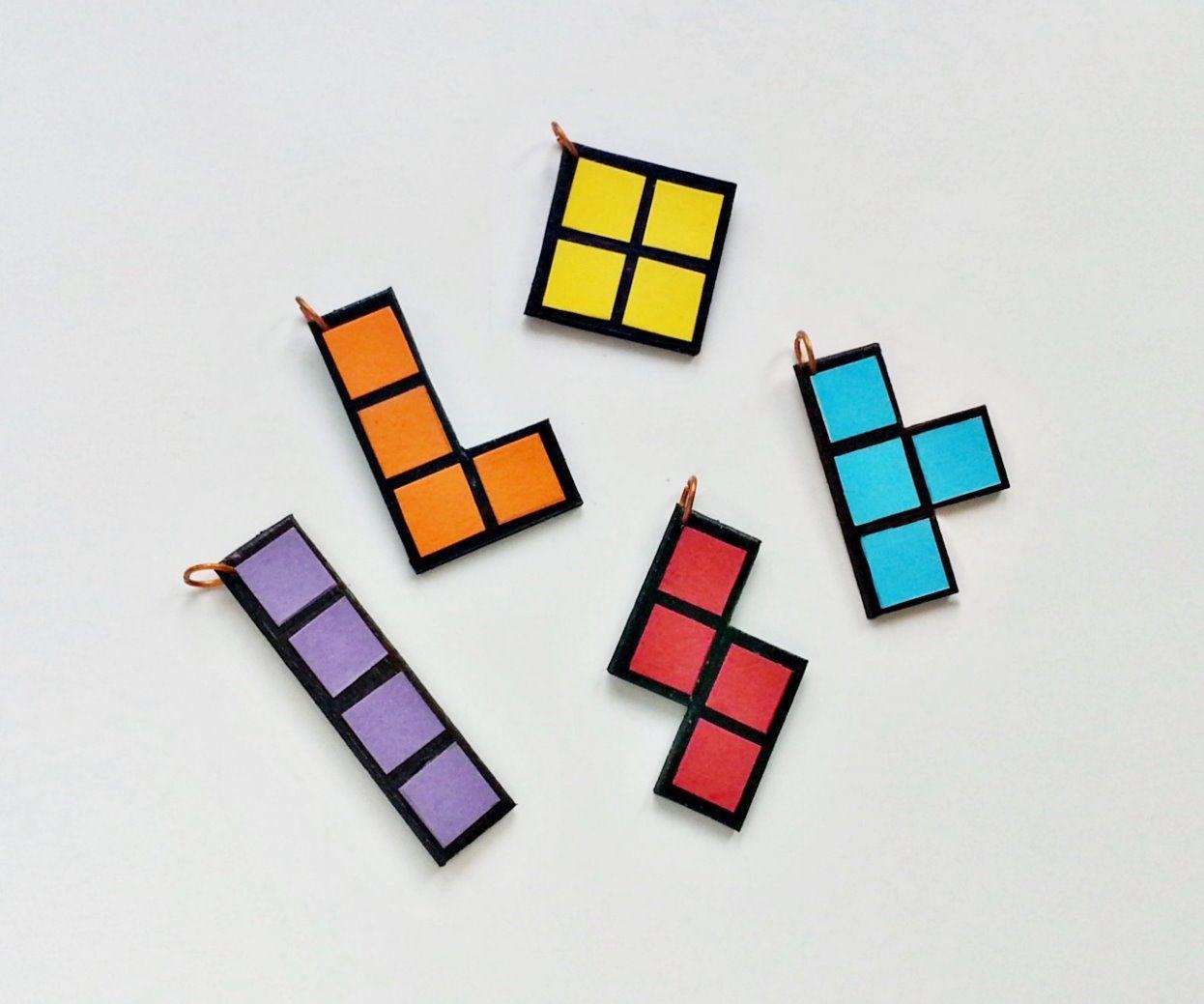 DIY Tetris Pendants