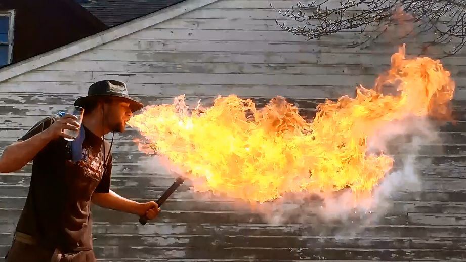 Can You Fire Breathe With Mineral Oil..?