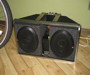 12 Volt Bicycle Trailer Stereo System