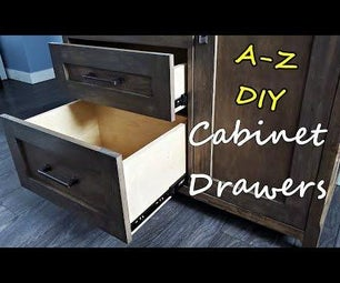 Beginners Guide to Drawers. Measure, Cut, Assemble, Mount, Finish. No Jig Method