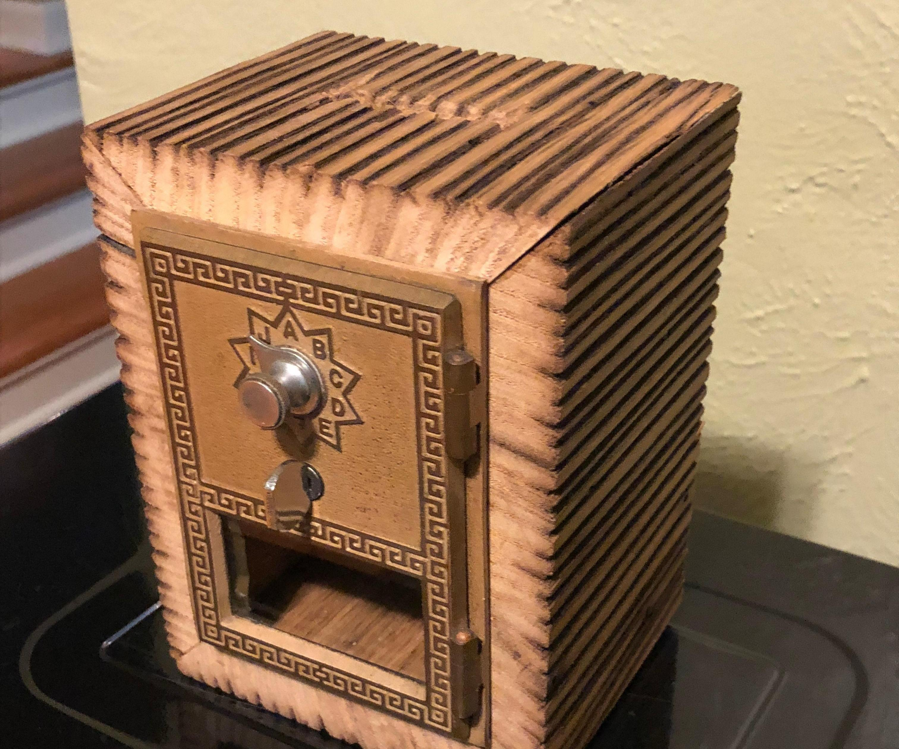 1960 Post Office Box Door Bank With Salvaged Wood