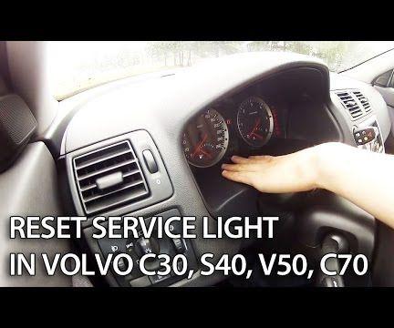 Reset service maintenance message in Volvo V50, S40, C30, C70