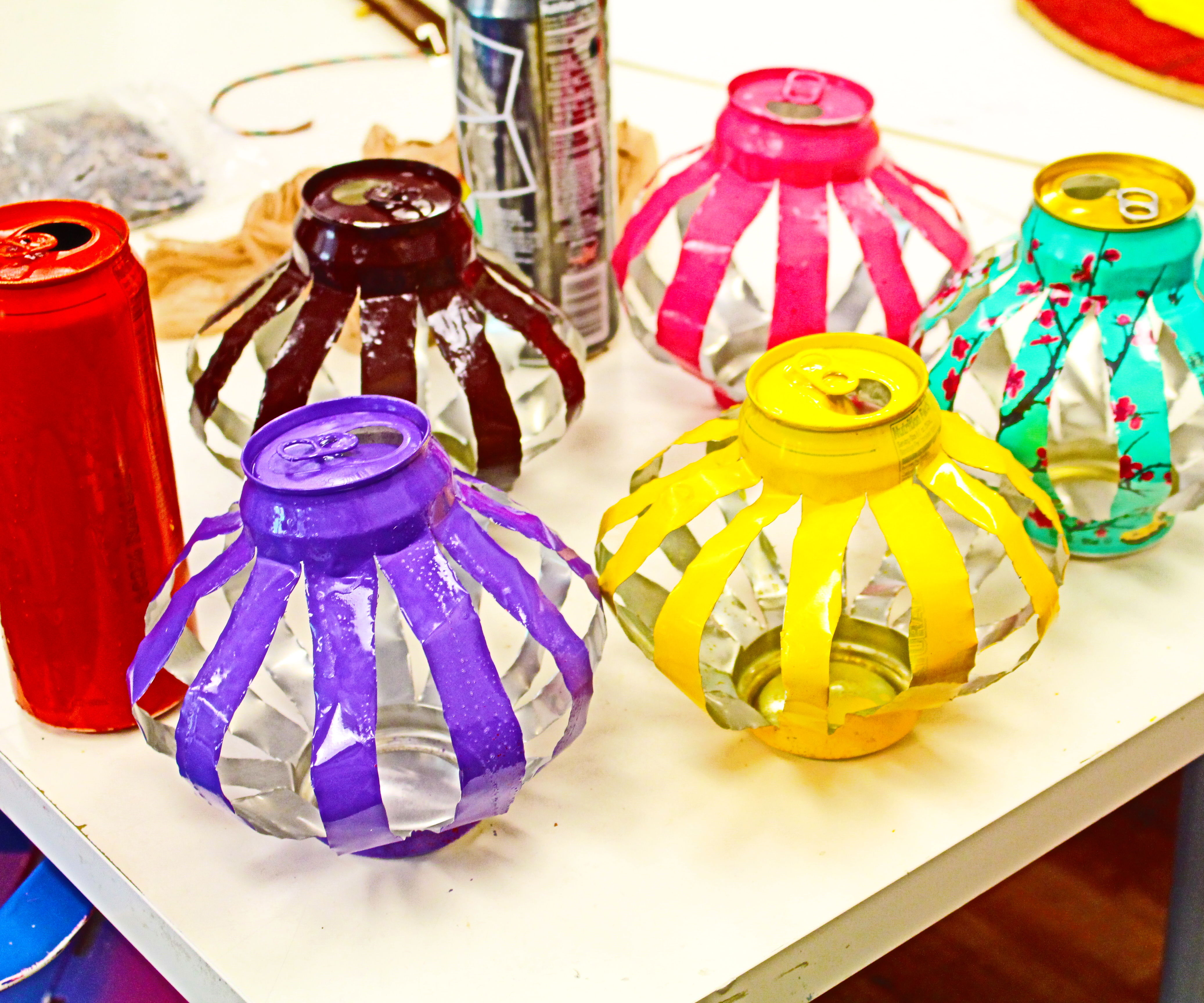 Arizona Tea Can Lanterns