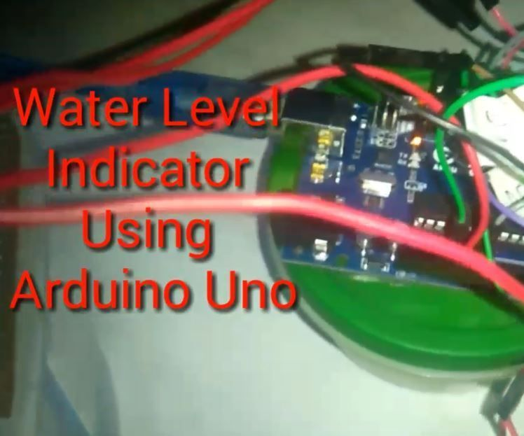 Water Level Indicator Using Sr04 Sensor