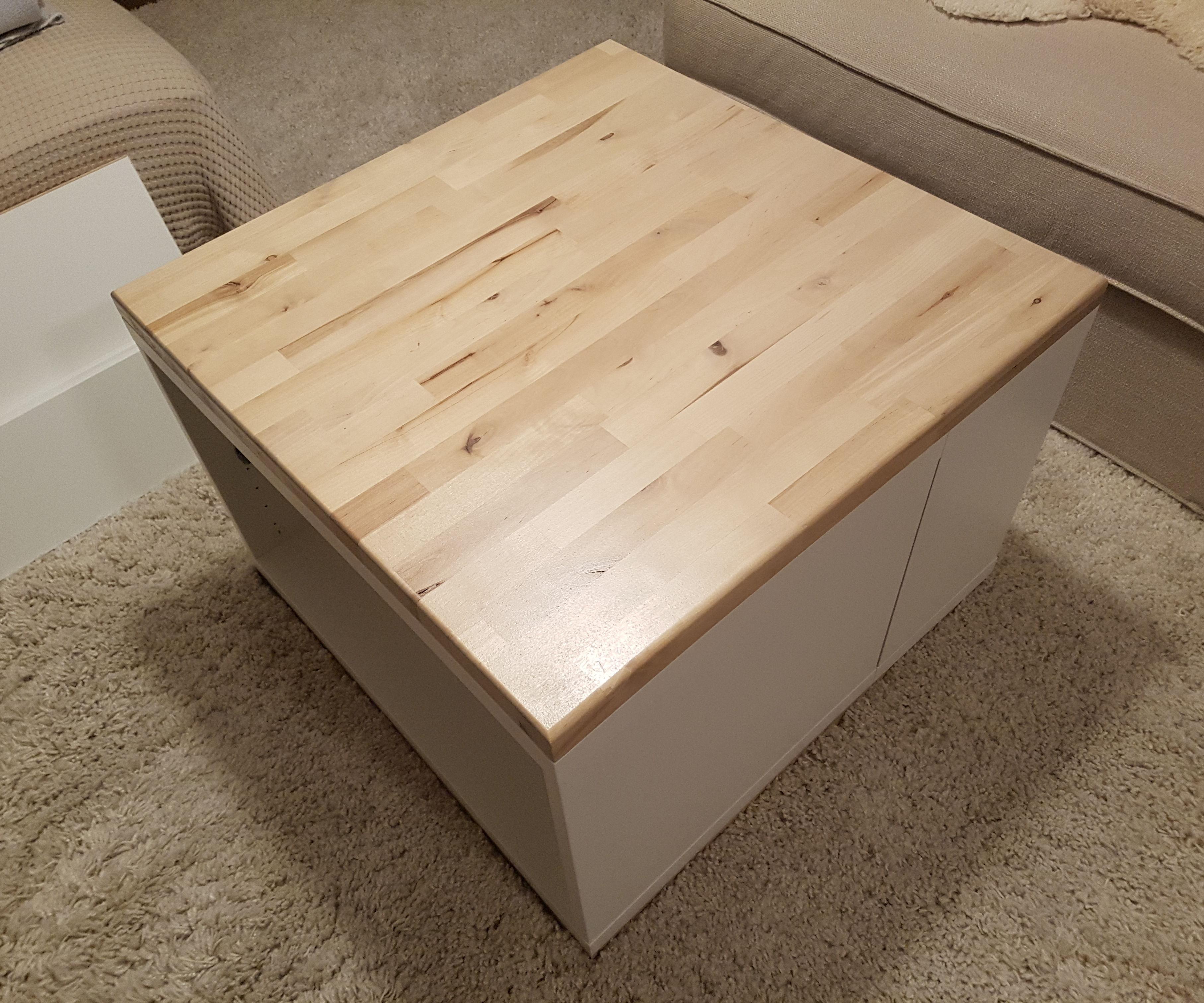 IKEA Besta Couch Table Shelf Hack