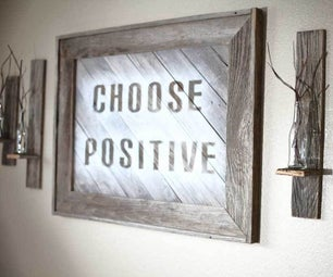 Reclaimed Wood Frame Sign