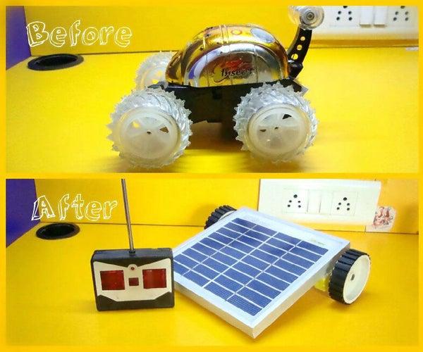 RC Car to Solar Robot Makeover