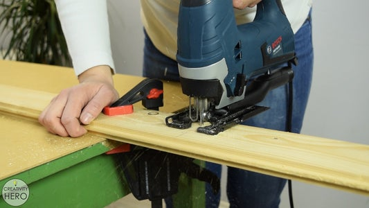 Making a Board Out of Pine Wood Flooring.
