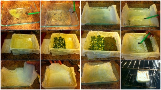 Assemble the Phyllo Pastry Sheets and the Pie Filling and Bake.