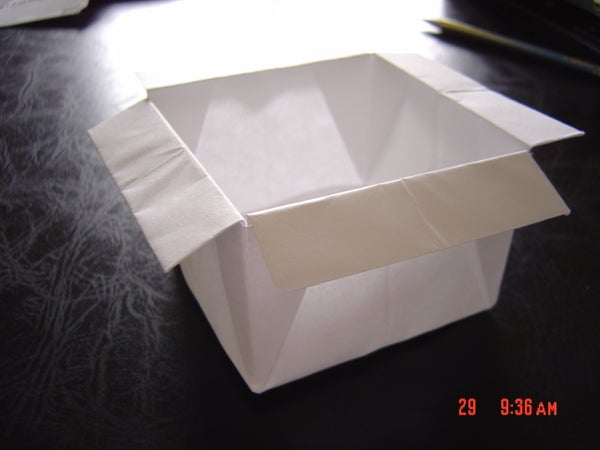 Origami Box With Flaps