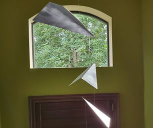 Modern Aluminum Paper Airplanes Mobile