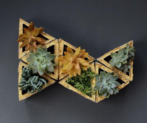 Concrete Modular Geometric Wall Planters