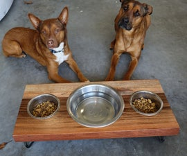 How to Build a Dog Food Bowl Stand