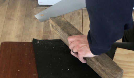 Cut a 45' Angle in the Board