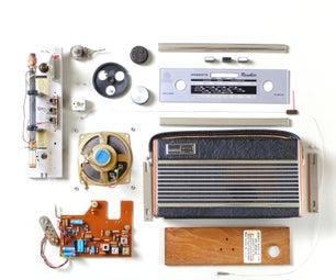 老式收音机变成了电话扬声器