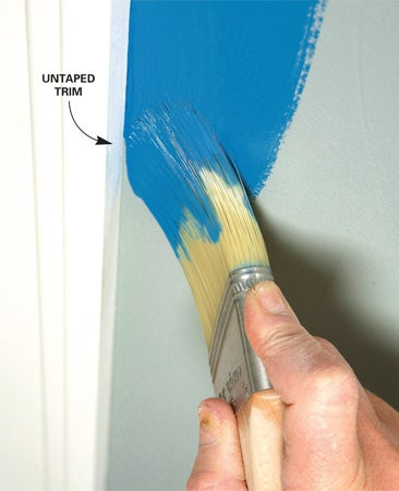 How to Paint Alongside Vertical Trim Without Tape