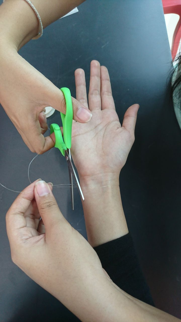 Step 6: Measure and Cut the Elastic String